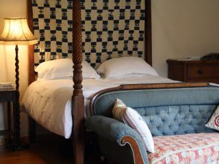 The Master Bedroom with Superking Four Poster Bed, ensuite bathroom, mahogany wardrobe & drawers