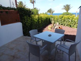 Luxury beachfront apartment with cute garden. El Beril.  PD/1