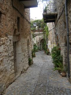 One of the little streets in the mediaeval village of Mesta. One of the Mastic villages