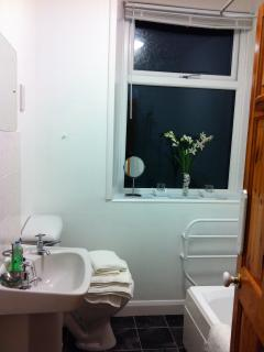 Bathroom with shower and shaver point