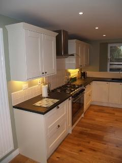 Large kitchen with range cooker