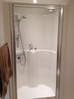 Shower cubicle in the main ensuite bedroom
