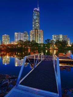 Iconic Q1 is mtrs away CBD is 5 minute walk, enjoy accessing the water from your own private jetty.