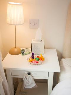 Twin room - bedside table attention to detail