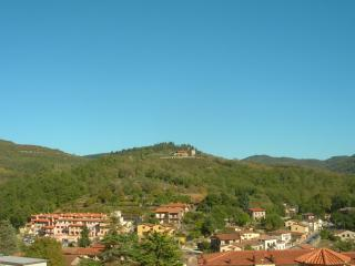 Looking out over the village and surrounding hills from the apartment