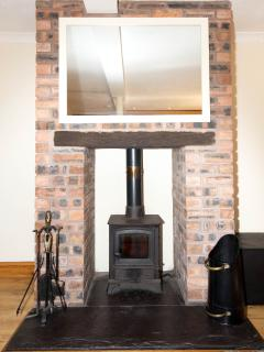 Wood Burning Stove at Yr Eifl Holiday Cottage Anglesey