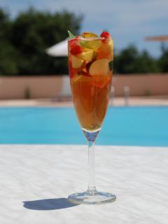 Pimms by the pool!