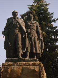 Nearby communist memorial