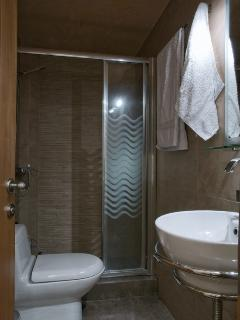 The main floor bathroom