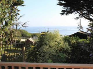 Sea view from veranda over Lyme Bay