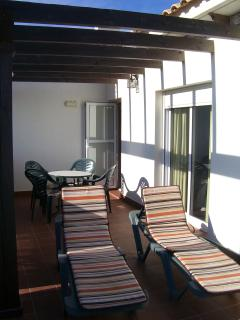 First Floor Balcony, Move the beds to take full sun or relax in the shade.