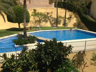 communal pool is just 5 m from villa