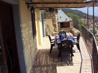 large terrace and barbecue for the preparation of roast meats and barbecues