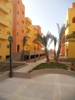 Lovely gated community with nice gardens