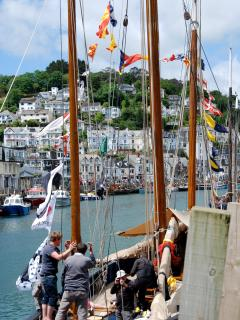 Looe -international fishing boat rally: Summer