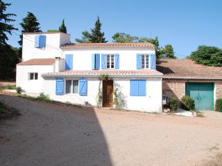 The 'Vigneronne's Cottage'..... spacious. light and with stunning views of the countr