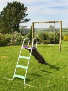 Some play equipment for the children to use.