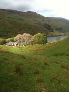 St.Mary's and it's  beautiful location..photo taken on the ancient route to the Church from Corris