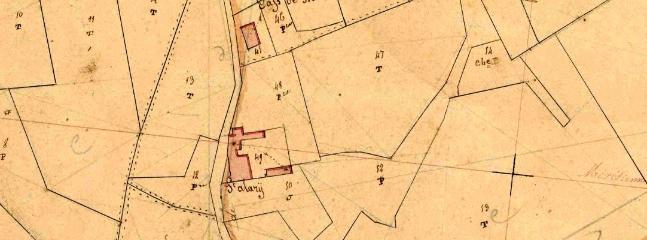 Survey map from 1837 showing Cap de Bouéou (top)