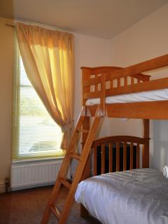 Third bedroom fitted with 3ft bunk beds