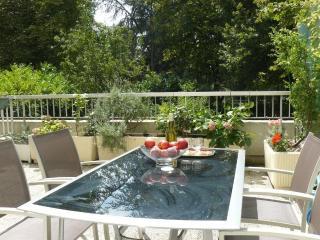23 m2 de terrasse donnant sur un très grand parc pour se détendre après une journée à Paris