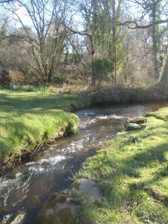 The river running through the garden