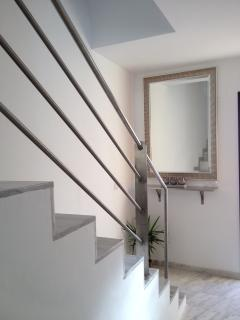 The stairs upto the first floor bedrooms