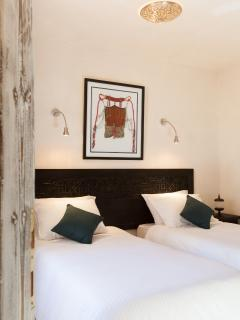 Twin bedroom, these beds can also be joined to make a super king bed.