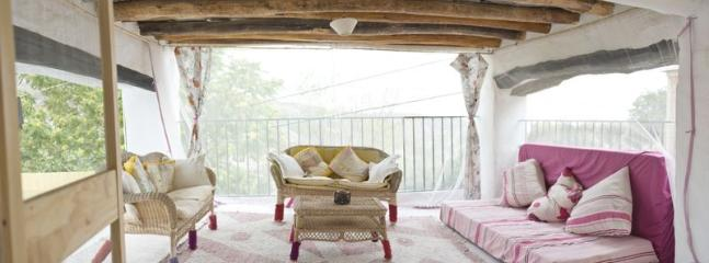 Covered terrace with fabulous views of Sierra de Gador