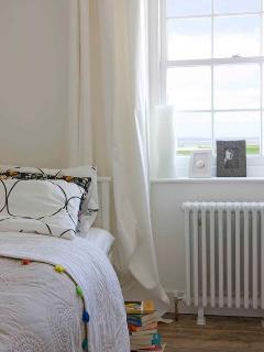 stunning view of Rye Bay and harbour from stylish bedroom