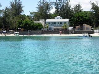 Bellevue Beach Bungalow and apartments - view from the sea.