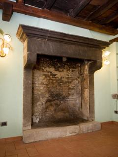 The ancient fireplace