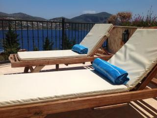 Sunloungers with a view
