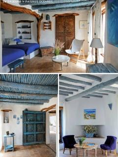 Chambre Tassioud et Suite Océane à dominante bleue