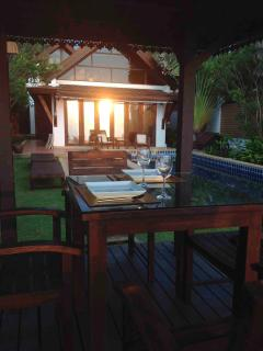 Dining at the Sala with Sunset