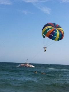 Para sailing on Sunny Beach