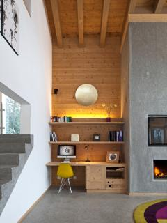 Living Rm (part) & Fireplace