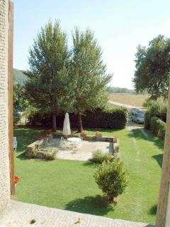 la bozza, private garden and car ecces