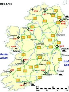 Kerry Airport is about 35 minutes from here and Shannon Airport is about 70 minutes away