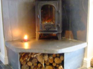 wood burner for those chilly evenings