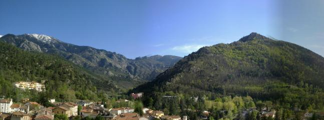 View of the Pyrenees from the terrace