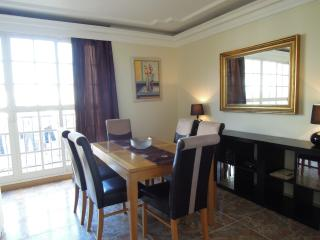 dining table extends and extra seating available