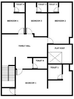 Upper Floor Layout Plan