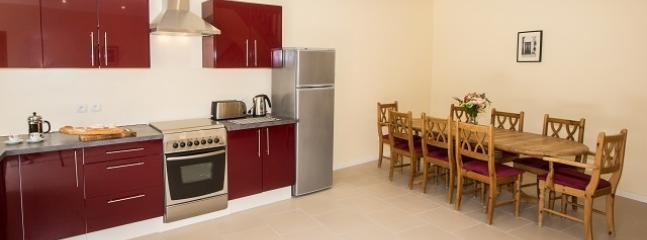 Spacious kitchen and dining area