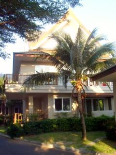 Back view of villa from beach side