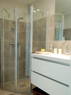 Ensuite bathrooms with shower, toilet and double sink