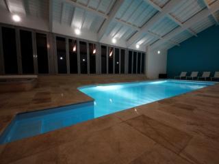 The stunning heated indoor pool