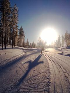 Cross-country skiing opportunities are perfect