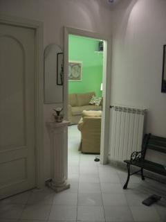the green room from the entrance