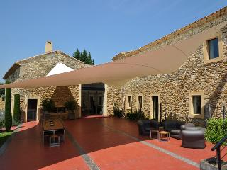 The elegance and class of a modernized interior within an ancient stone structure basking in the sun